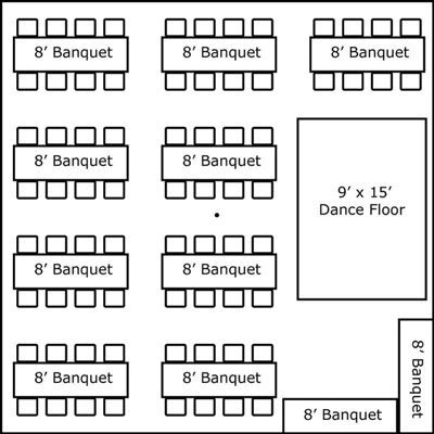 30 x 30 w banquet tables buffet dance floor super for 100s on the table 20s on the floor