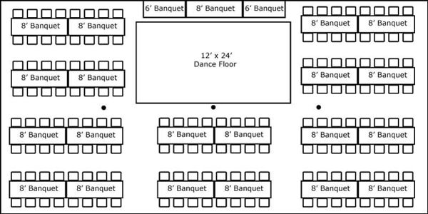 30 X 60 W Banquet Tables Buffet Floor