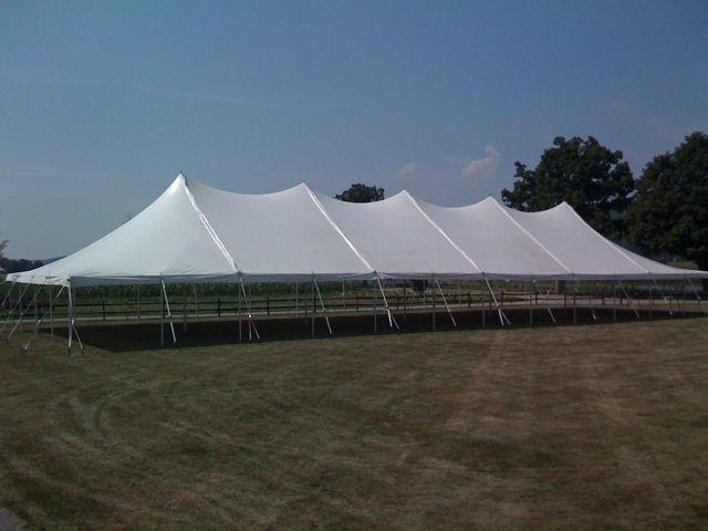 40u2032 x 120u2032 Pole Tent & 40u0027 x 120u0027 Pole Tent - Super Stuff Party Rental