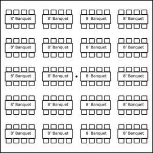 40′ x 40′ w/ Banquet Tables