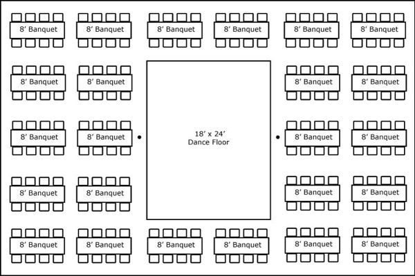 40 X 60 W Banquet Tables Amp Dance Floor Super Stuff