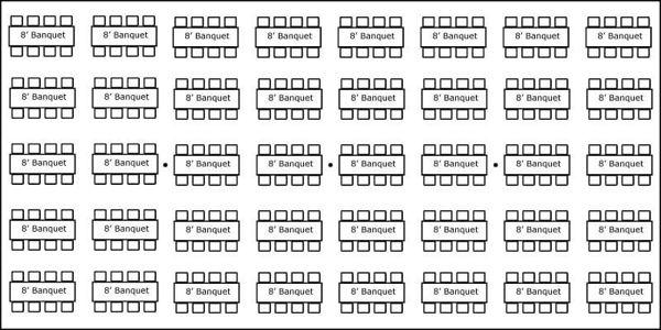 40′ x 80′ w/ Banquet Tables