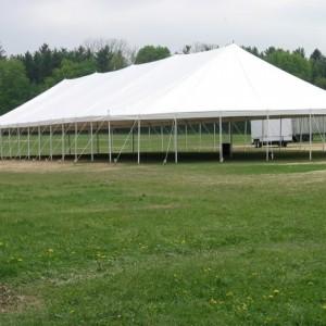 48' x 136' Pole Tent (Oval)