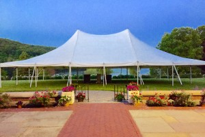 40×60 pole tent Rutherford Hall Allamuchy, NJ