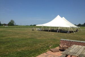 40×60 pole tent Working Dog Winery Hightstown, NJ