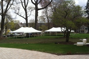 (2) 20×40 pole tents for Earth Day in Hackettstown!