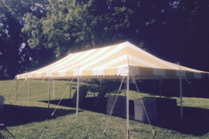 20×40 yellow and white pole tent Allamuchy, NJ