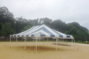 20×30 Blue&White Pole Tent Succasunna, NJ