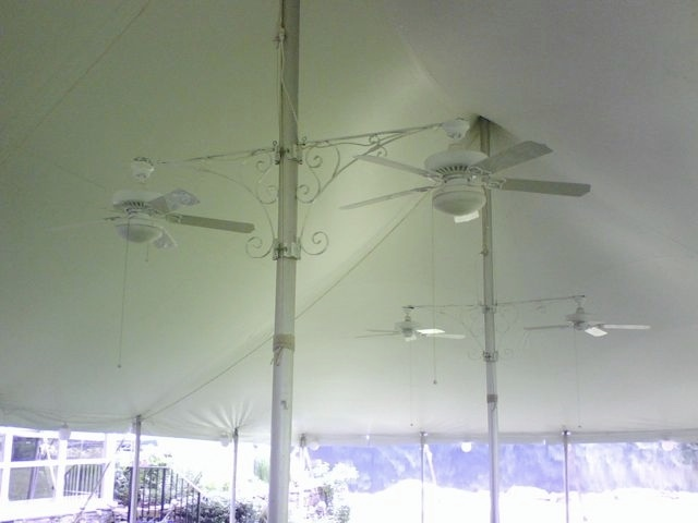 Tent ceiling fans super stuff party rental tent ceiling fans mozeypictures Image collections