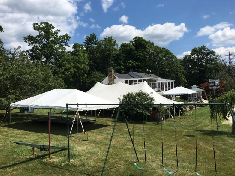 30×60 Pole Tent (2) 20×30 Frame Tents Staging Dance Floor. Long Valley NJ & 30x60 Pole Tent (2) 20x30 Frame Tents Staging Dance Floor. Long ...