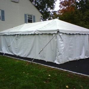 White Tent Sidewalls