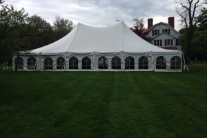 40×60 pole tent in Mendham, NJ