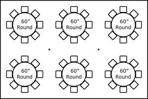 20' x 30' w/ Round Tables
