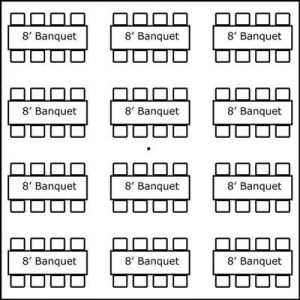 30′ x 30′ w/ Banquet Tables