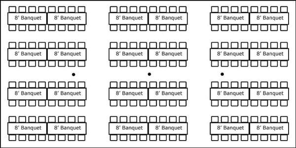30′ x 60′ w/ Banquet Tables