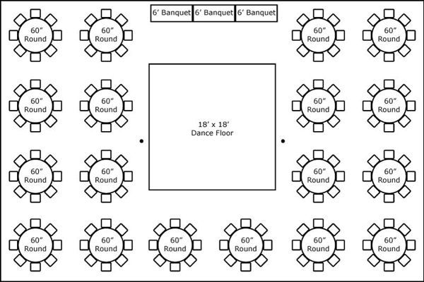 40 X 60 W Round Tables Buffet Amp Dance Floor Super