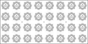 40′ x 80′ w/ Round Tables